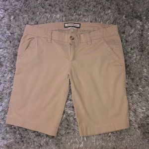 Abercrombie and Fitch khaki Bermuda shorts
